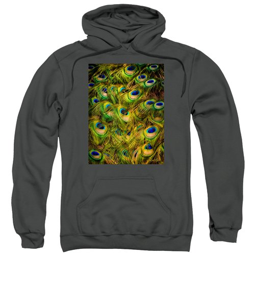 Sweatshirt featuring the photograph Peacock Tails by Rikk Flohr