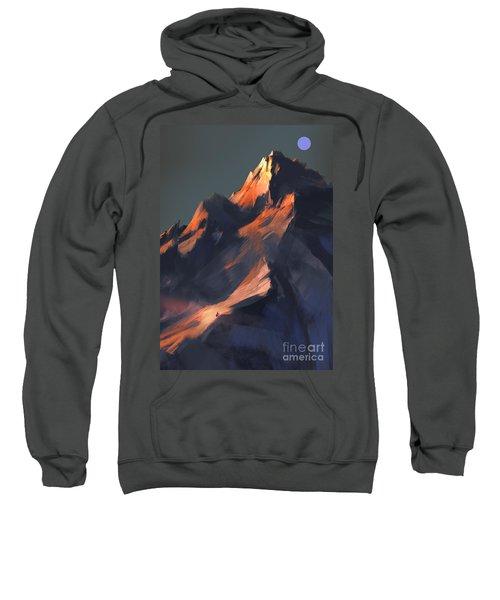Sweatshirt featuring the painting Peak by Tithi Luadthong