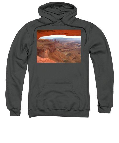 Peering Out 2 Watercolor Sweatshirt