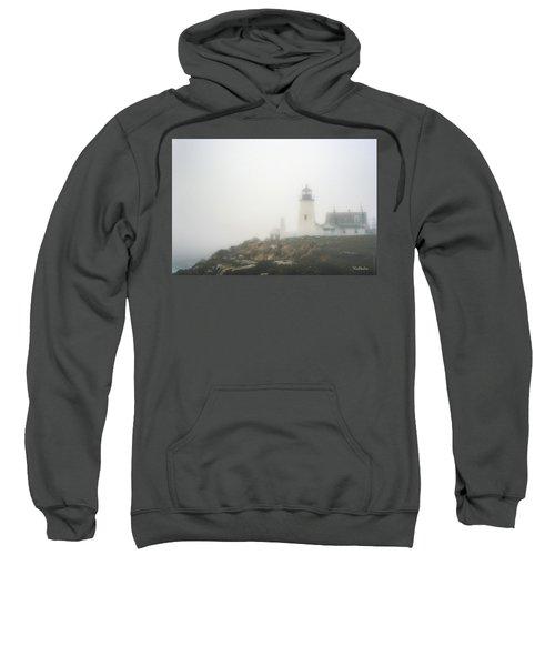 Pemaquid Point Lighthouse In Fog Sweatshirt