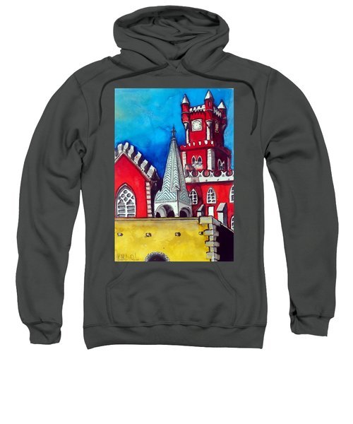 Pena Palace In Portugal Sweatshirt by Dora Hathazi Mendes