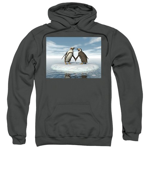 Penguins Couple - 3d Render Sweatshirt