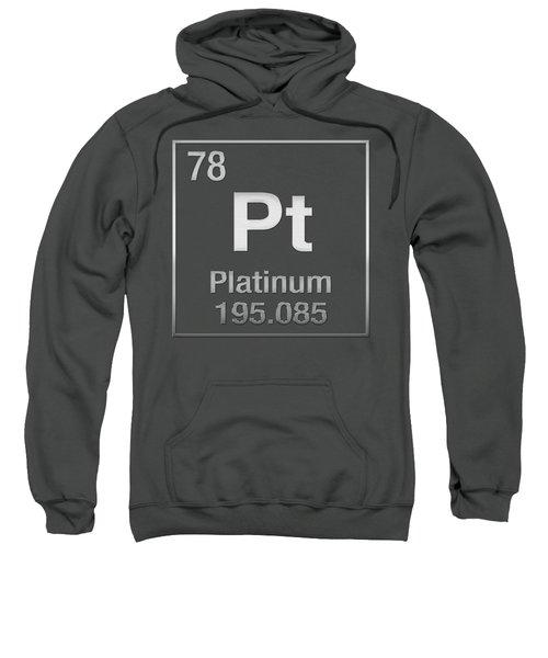Periodic Table Of Elements - Platinum - Pt - Platinum On Platinum Sweatshirt