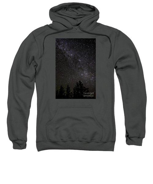 Perseid Meteor And Milky Way Sweatshirt