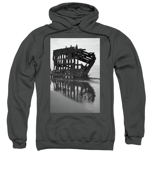 Peter Iredale Shipwreck In Black And White Sweatshirt