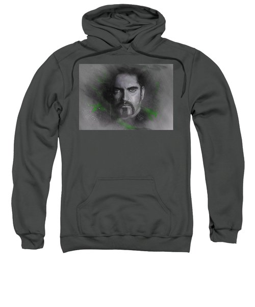 Sweatshirt featuring the drawing Peter Steele, Type O Negative by Julia Art