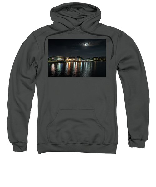 Pewaukee At Night Sweatshirt by Randy Scherkenbach