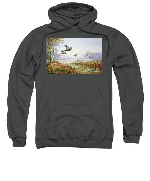 Pheasants In Flight  Sweatshirt