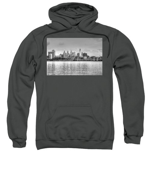Philadelphia Skyline In Black And White Sweatshirt