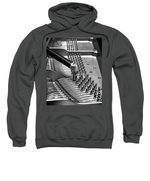 Piano Tuning Bw Sweatshirt