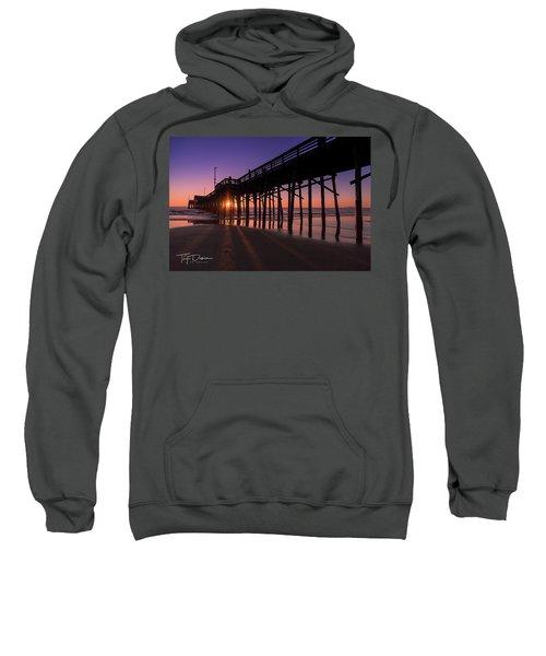 Pier In Purple Sweatshirt