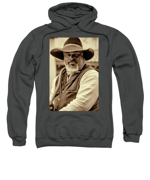 Sweatshirt featuring the photograph Piercing Eyes Of The Cowboy by Jeanne May