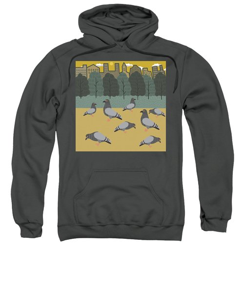 Pigeons Day Out Sweatshirt by Nicole Wilson