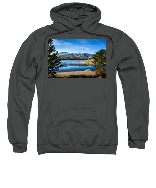 Pikes Peak Over Crystal Lake Sweatshirt
