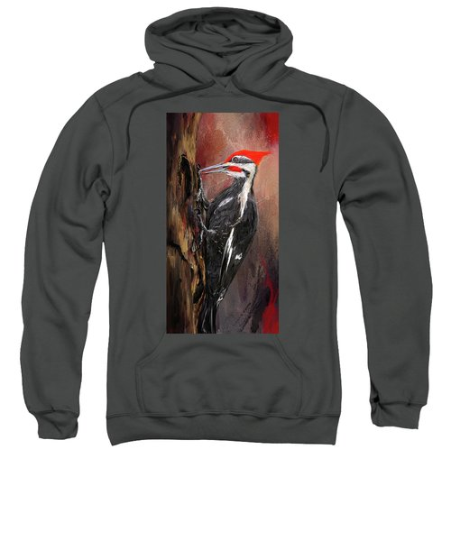 Pileated Woodpecker Art Sweatshirt by Lourry Legarde
