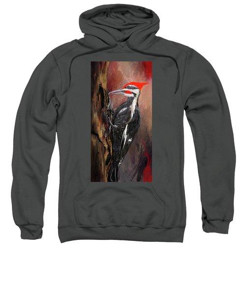 Pileated Woodpecker Art Sweatshirt
