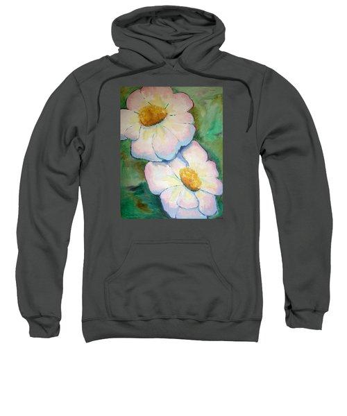 Pink Disc Flowers Sweatshirt