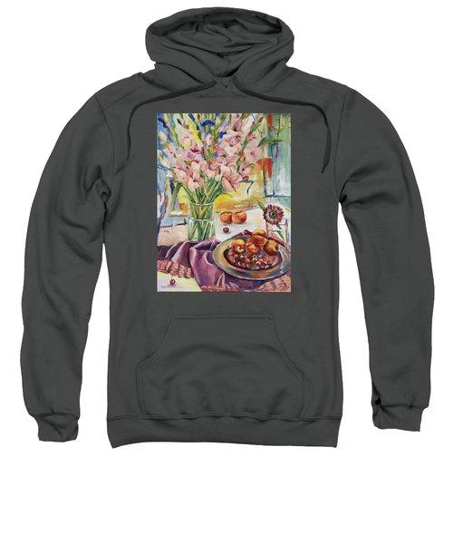Pink Gladioas Sweatshirt
