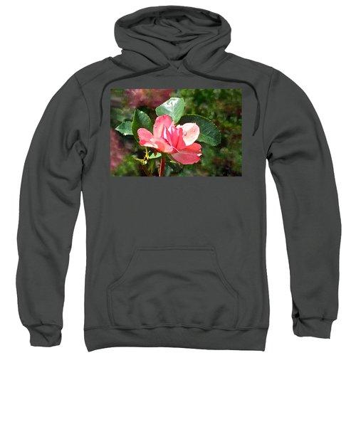 Pink Roses In The Rain 2 Sweatshirt