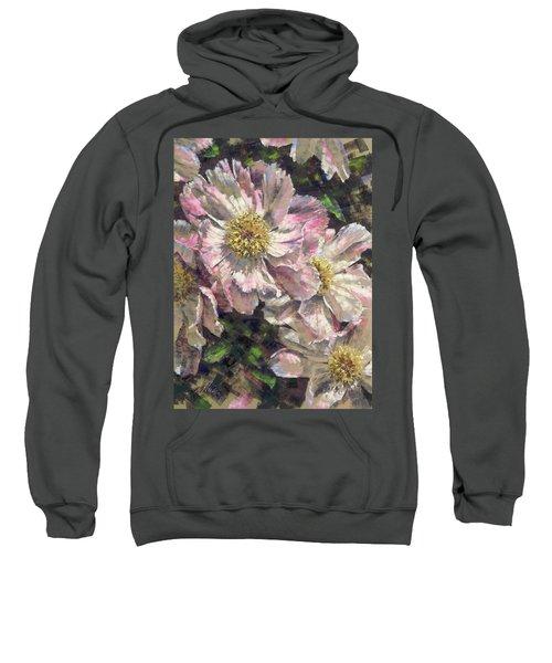 Pink Single Peonies Sweatshirt