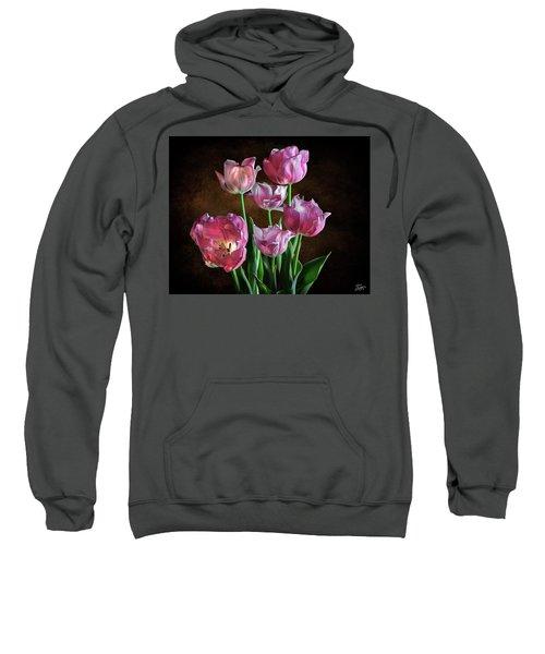 Pink Tulips Sweatshirt