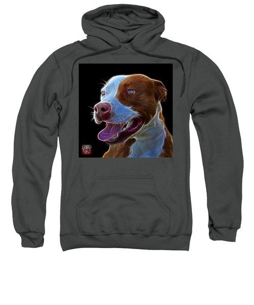 Pit Bull Fractal Pop Art - 7773 - F - Bb Sweatshirt