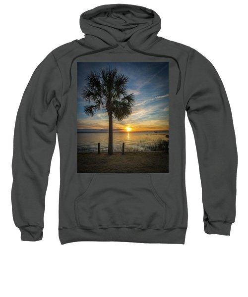 Pitt Street Bridge Palmetto Tree Sunset Sweatshirt