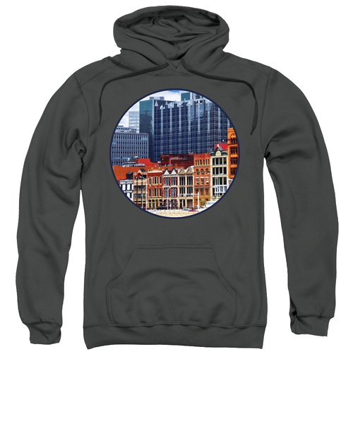 Pittsburgh Pa Skyline Closeup Sweatshirt