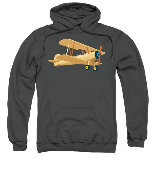Plane Made With Water Colours Sweatshirt
