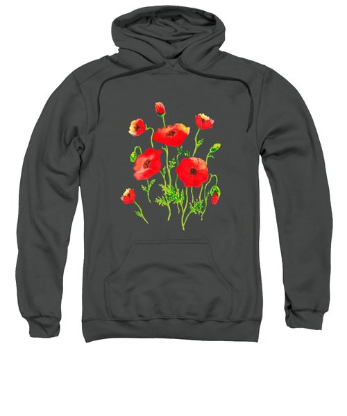 Playful Poppy Flowers Sweatshirt
