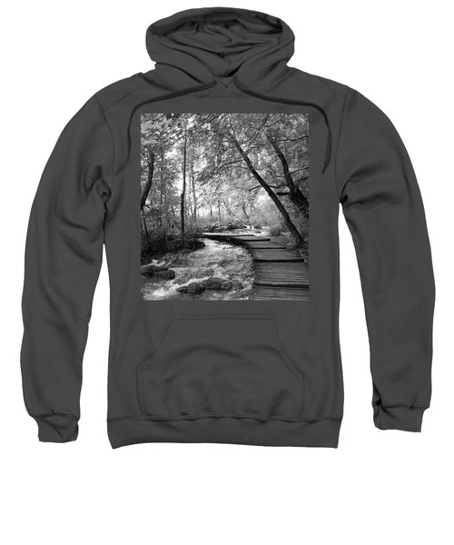 Plitvice In Black And White Sweatshirt