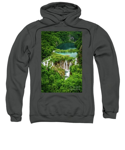Plitvice Lakes National Park - A Heavenly Crystal Clear Waterfall Vista, Croatia Sweatshirt