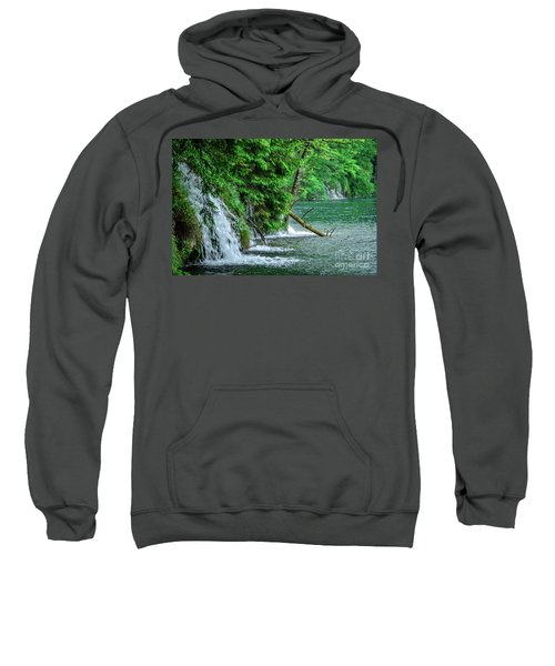 Plitvice Lakes National Park, Croatia - The Intersection Of Upper And Lower Lakes Sweatshirt
