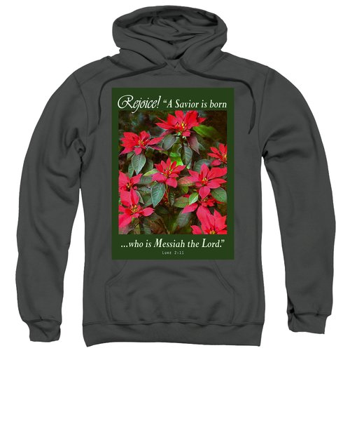Poinsettia Christmas Sweatshirt