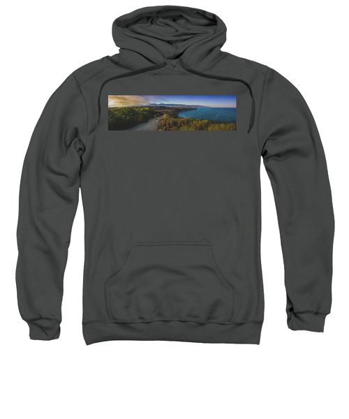 Point Dume Sunset Panorama Sweatshirt