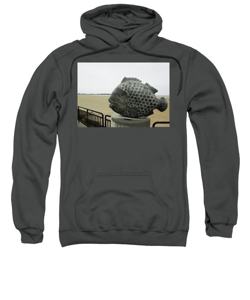 Polka Dotted Fish Sculpture Sweatshirt