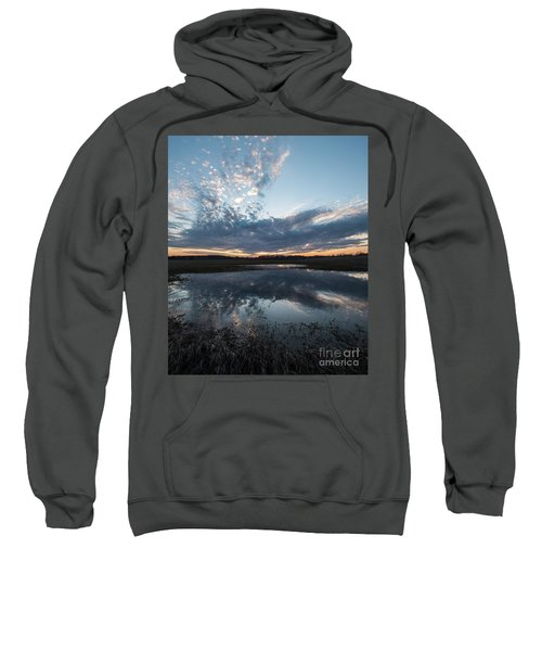 Pond And Sky Reflection3a Sweatshirt
