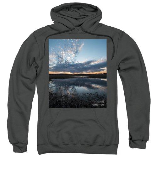 Pond And Sky Reflection3a Sweatshirt