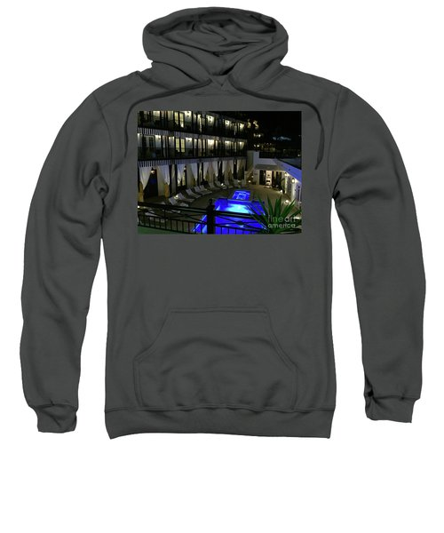 Poolside At The Pearl Sweatshirt by Megan Cohen