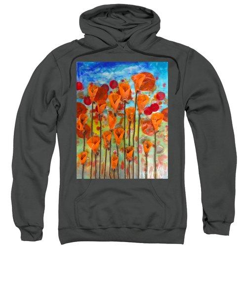 Poppies Make Me Happy Sweatshirt