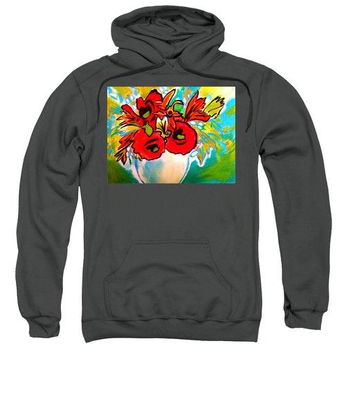 Poppy Bouquet Reworked Sweatshirt
