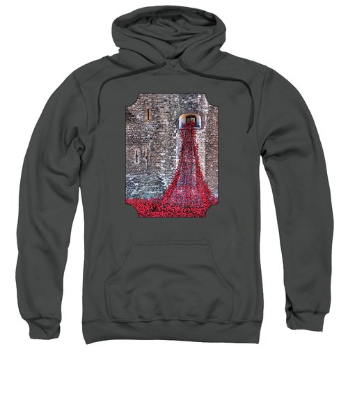 Poppy Cascade Sweatshirt by Gill Billington