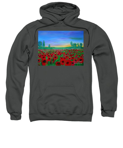 Poppy Field At Sunset Sweatshirt