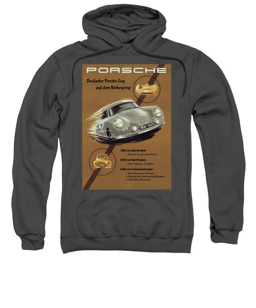 Porsche Nurburgring 1950s Vintage Poster Sweatshirt