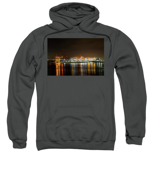 Port Of Vancouver Bc At Night Sweatshirt