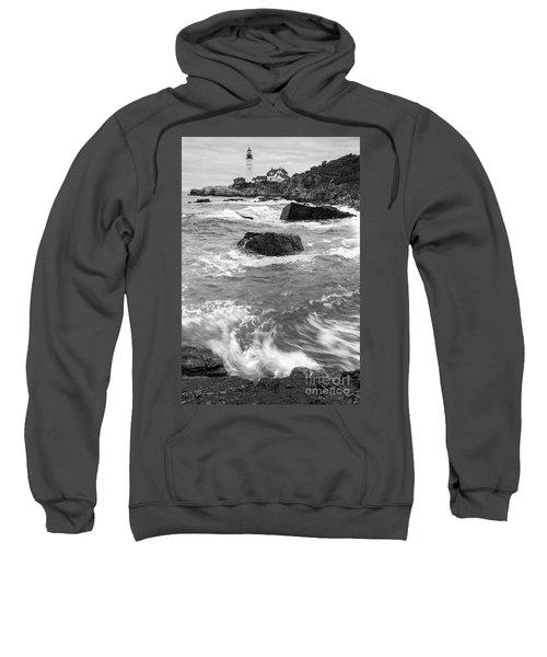 Portland Head Light Under Heavy Skies  -88356 Sweatshirt
