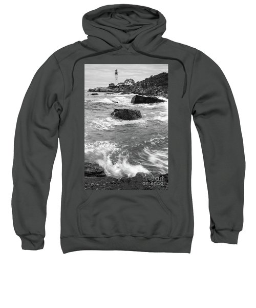 Portland Head Light Under Heavy Skies  -88356 Sweatshirt