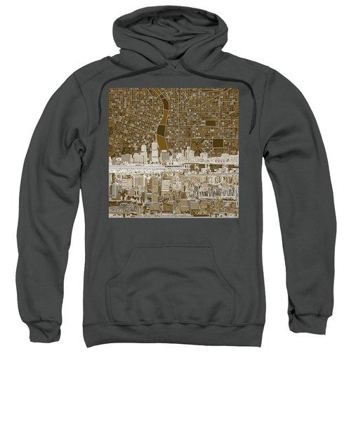 Portland Skyline Abstract 6 Sweatshirt