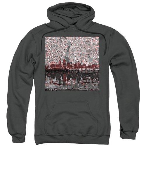 Portland Skyline Abstract 8 Sweatshirt