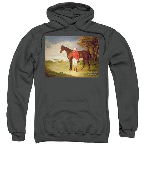 Portrait Of A Gentleman With His Horse Sweatshirt